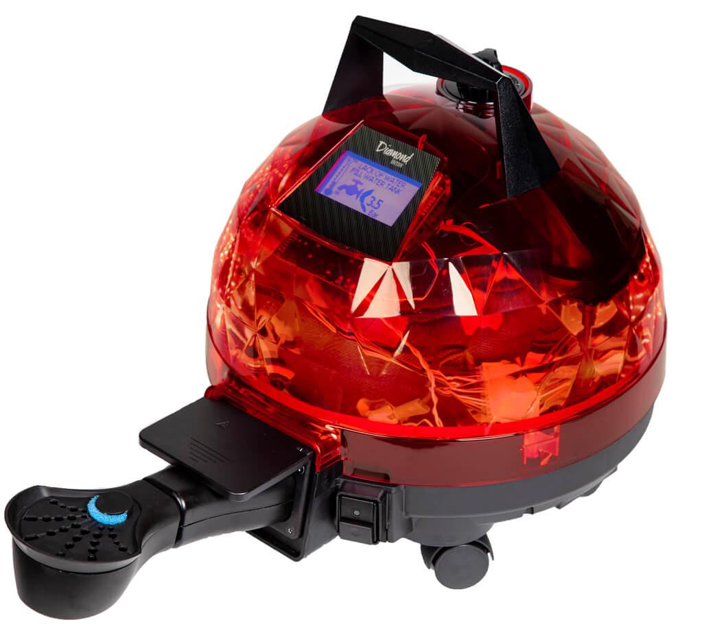 Kırmızı Unitekno Diamond Buharlı Temizlik Makinesi Aparatlı Görünüm