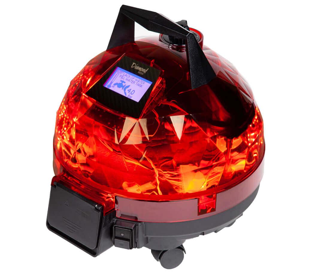 Kırmızı Unitekno Diamond Buharlı Temizlik Makinesi Sağ Görünüm
