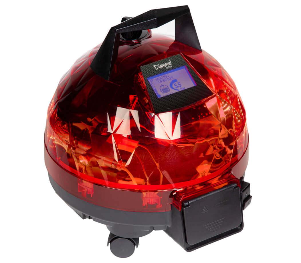 Kırmızı Unitekno Diamond Buharlı Temizlik Makinesi Sol Görünüm