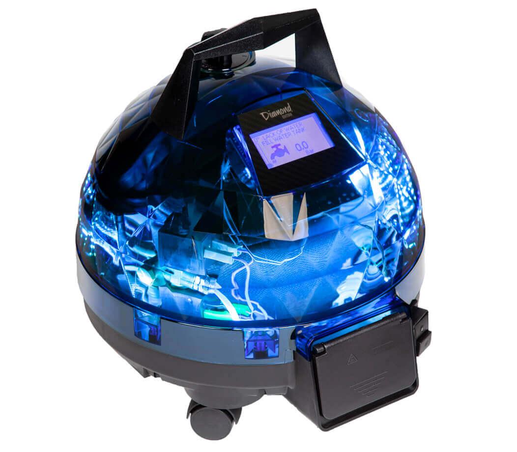 Mavi Unitekno Diamond Buharlı Temizlik Makinesi Sol Görünüm