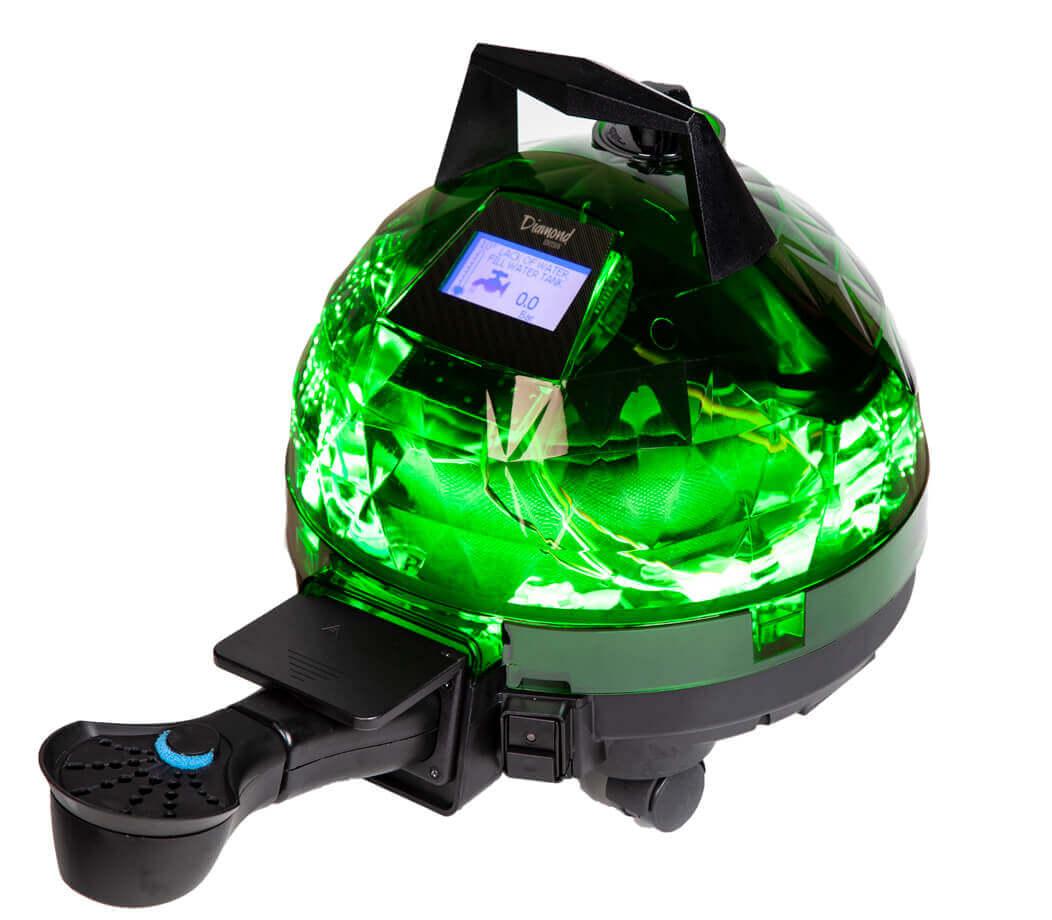 Yeşil Unitekno Diamond Buharlı Temizlik Makinesi Aparatlı Görünüm