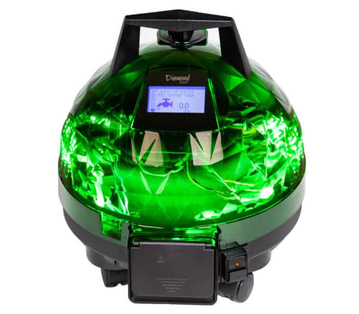 Yeşil Unitekno Diamond Buharlı Temizlik Makinesi Ön Görünüm