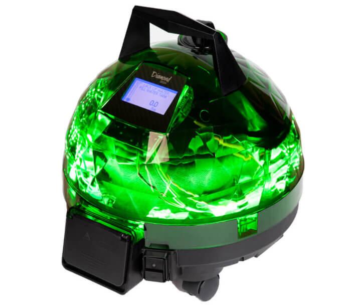 Yeşil Unitekno Diamond Buharlı Temizlik Makinesi Sağ Görünüm