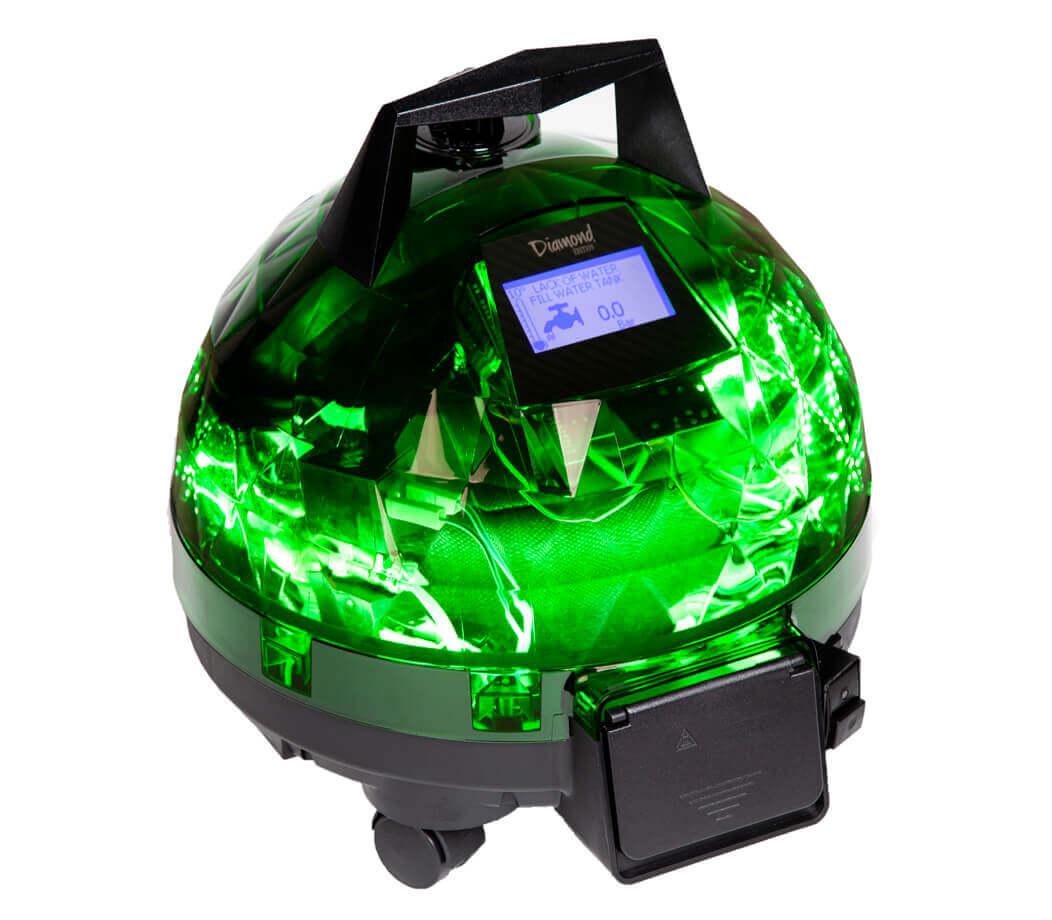 Yeşil Unitekno Diamond Buharlı Temizlik Makinesi Sol Görünüm
